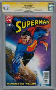 Superman #205 Turner Variant CGC 9.8 Signature Series Signed x2 Jim Lee & Azzarello DC comic book